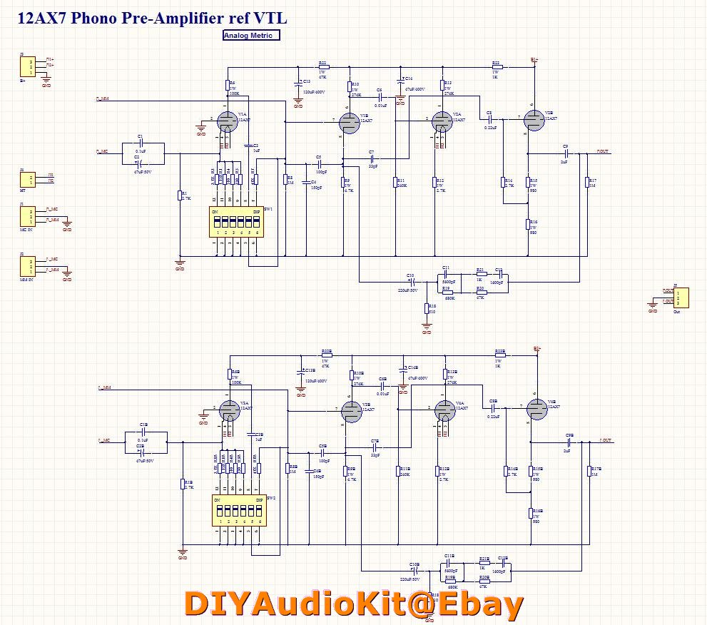 12ax7 Tube Wiring Diagram Images Of Preamp Calto Ecc83 Mm Mc Phono Turnable Preamplifier Diy