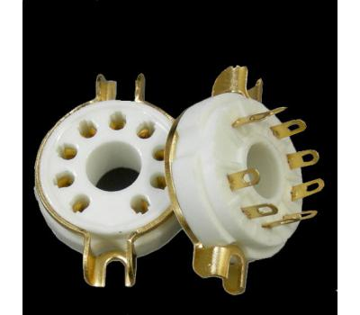 Ceramic 9-Pin Gold Plated Tube Socket