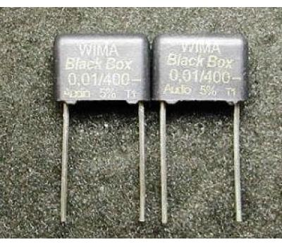 WIMA Black Box 0.01uF 400V Polypropylene Film Metallized Electrodes Capacitor (1PC)
