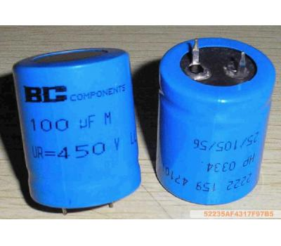 Philips 100uf 450v Electrolytic Capacitor