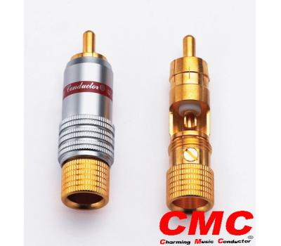 CMC 8236-WU 24K Gold Plated RCA Male Plug (2 PCS)