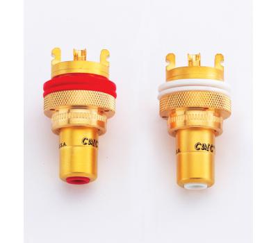 CMC 805-2.5F 24K Gold Plated RCA Female Connector (2 PCS)