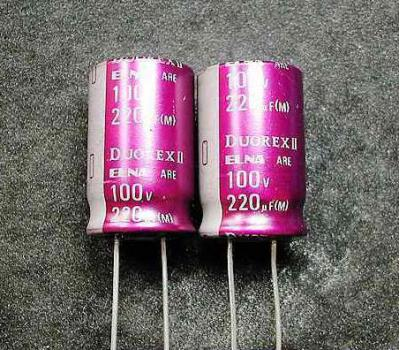 ELNA DUOREXII 220uF 100V Electrolytic Capacitor
