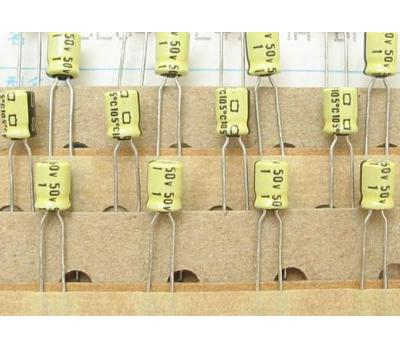 Nippon Chemi-con 1uF 50V Electrolytic Capacitor