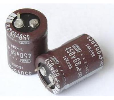 Nippon Chemi-con 68uF 450V Electrolytic Capacitor