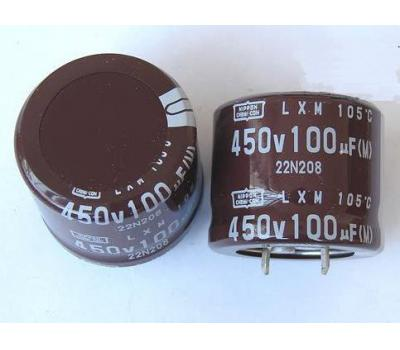 Nippon Chemi-con 100uF 450V Electrolytic Capacitor