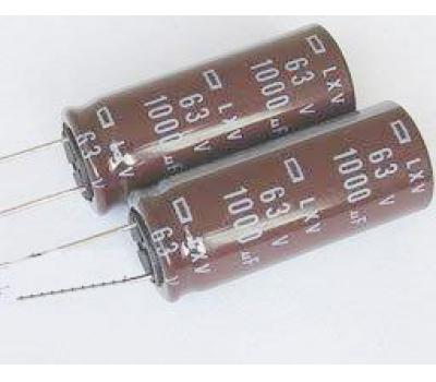 Nippon Chemi-con 1000uF 63V Electrolytic Capacitor