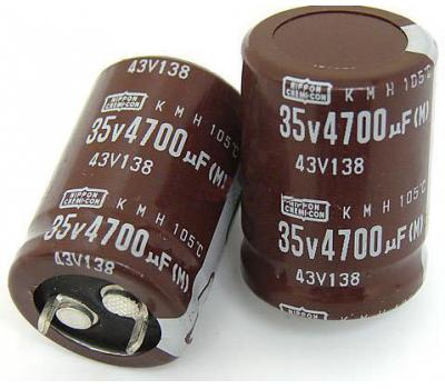 Nippon Chemi-con 4700uF 35V Electrolytic Capacitor