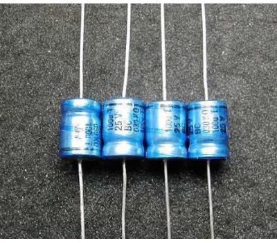 Philips 100uF 25V Axial Electrolytic Capacitor