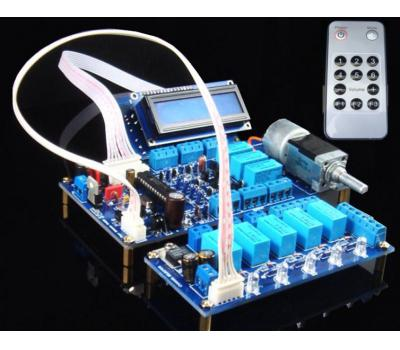ALPS IR Remote Control Volume & Input Selector & LCD Kit (100K, 5 Channels & 4 to 1 Way)