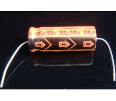 Sprague 100uF 100V Axial Electrolytic Capacitor