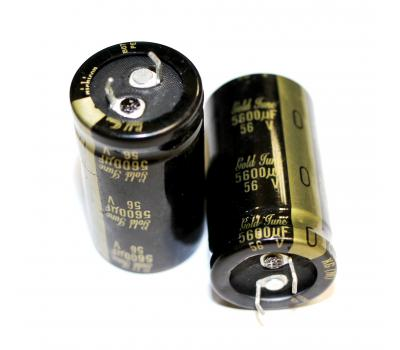 Nichicon KG 5600uF 56V Gold Tune Electrolytic Capacitor