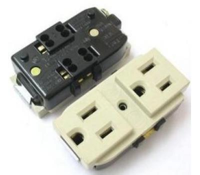 Taiwan Dual Outlet AC Power Socket Adapter US