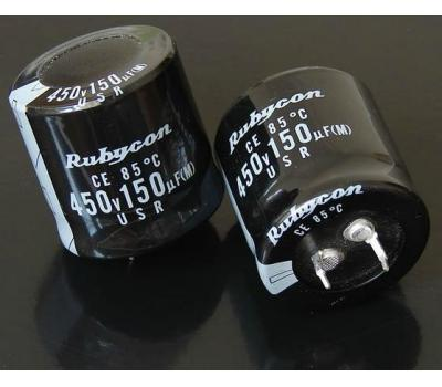 Rubycon 150uF 450V Electrolytic Capacitor