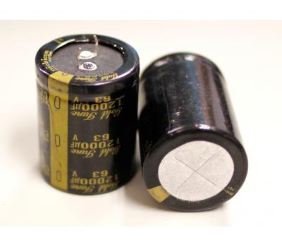 Nichicon KG 12000uF/63V Gold Tune Electrolytic Capacitor