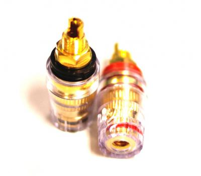 STD Gold Chassis Speaker Socket Female for Banana Plug Pair