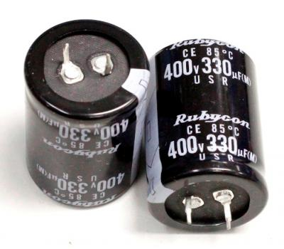 Rubycon 330uF 400V Electrolytic Capacitor