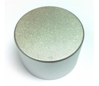 Silver 45mm x 30mm Aluminium Dot Screw Rotary Knob