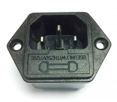 Power Inlet IEC Socket with Fuse Slot